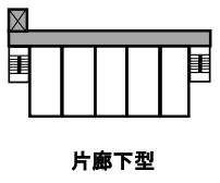 片廊下型(外廊下型)